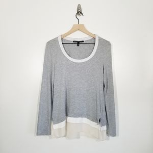 White House Black Market Long Sleeve Tiered Top